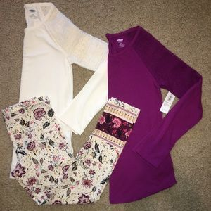 NWT OLD NAVY girls 3 piece lot size (10/12)